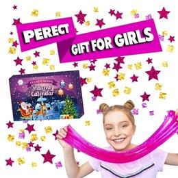 Çocuklar için Advent Takvim Noel Slime 24 Adet Farklı Geri Sayım Takvim Oyuncak Slime Oyuncak Şeker Hamuru Oyuncak Hediye Için 201226