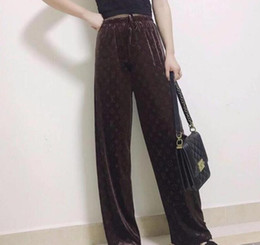 Wholesale 2020 High-End Design New Women's Wear European And American Fashion Luxury Wide-Leg Pants Casual Loose High-Waisted Pants Super Comfortable