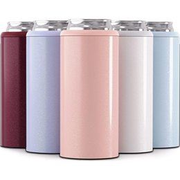 12Oz Thermos Bär Kühler Kühler Vakuumisolierte Becher Doppelwand 304 Edelstahl Becher Kühler Cola Skinny Can Cooler 201204 im Angebot