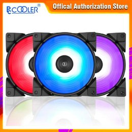 Wholesale exhausted fan resale online - PCCOOLER Set Haoyue CM RGB Computer Case Fan Multiple Lighting Modes for Water Cooling Exhaust CPU fan1