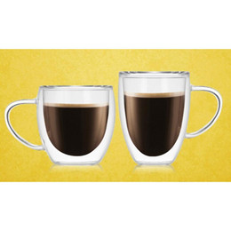 walled coffee mug 2021 - 1 Pcs Heat-resistant Double Wall Glass Cup Beer Coffee Cup Set Handmade Creative Beer Mug Tea Glass Whiskey Gl bbysFE bdesports