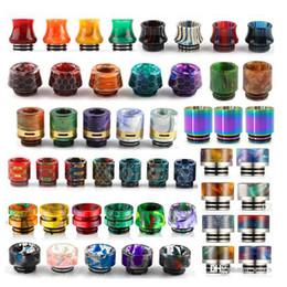 Wholesale baby snakes resale online - 13 Types Thread Resin Drip Tip Honeycomb Snake Skin Cobra Vape Rainbow Mouthpiece for TFV12 Prince TFV8 Big Baby Tanks RDA