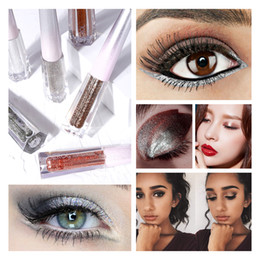dark grey eyeshadow Canada - DEROL Silver Glitter Eyeshadow Liquid Eyeliner Brown Purple Quick-dry Eye Makeup Waterproof Liquid Eyeliner Eye Liner Makeup 0266