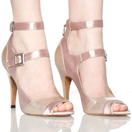 Hot sale-Women custom high-heeled dance shoes latin dance shoes belly tango dancing women wear Square national standards fellowship shipping on Sale