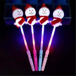 Wholesale Led Party Magic Wand Glow Stick Flashing Concert Holiday Decor supplies For Home Snowman Sticks Christmas
