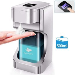 500ml Touchless Automatic Soap Foam Dispenser Auto Sensor Dispenser Automatic Liquid Soap Dispenser Hand washing hotel school home FWE2310 on Sale