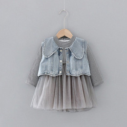 2020 New Girls Casual Dresses Girl's Clothes Autumn Kids Denim Jacket Dress Costume Suit for Baby Girl Coat Princess Dresses cqit#