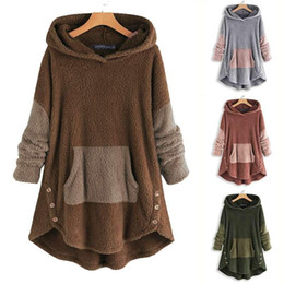 Wholesale womens vintage winter coats resale online – Plus Size Vintage Womens Hoodies Winter Hooded Sweatshirts Fluffy Coats Casual Tunic Female Pullovers Irregular Outwears