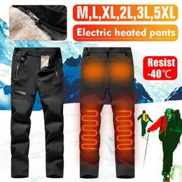Uomo Donna USB Riscaldamento Elettrico inverno più USB intelligenti riscaldata pantaloni caldi caldo velluto ginocchio pantaloni Pant per lo sport esterno in Offerta