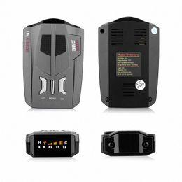 Car Auto Detector de sinal de Inglês / Russo Para Veículo V9 velocidade Alerta de voz Aviso de 16 LED Banda exibição Detector Polícia Radares Detector k8Qx # em Promoção