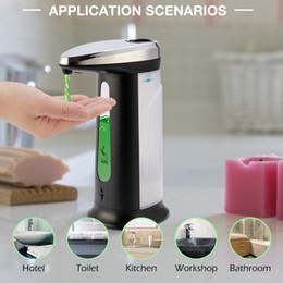 Опт 400 мл Жидкое мыло Диспенсер автоматический беззаконный ABS гальванический дезинфицирующий сантезвездитель Smart Sensor Dispensador Бутылка для ванной комнаты для кухни