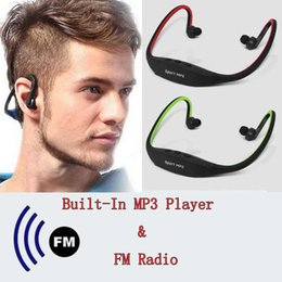 neckband mp3 player 2021 - USB Sport Earphones Headphones Headsets Music Media Player MP3 TF Card FM Radio Headphones MP3 Stereo Audio Neckband che