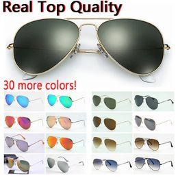 venda por atacado designer de óculos de sol de qualidade de aviação óculos top sol piloto para mulheres dos homens com caixa preta ou marrom couro, tecido e acessórios de varejo!