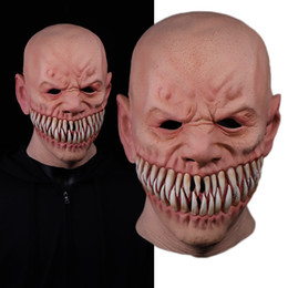 clown film UK - Horror Stalker Clown Mask Cosplay Creepy Monster Big Mouth Teeth Chompers Latex Masks Halloween Party Scary Costume Props 201026
