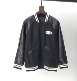 Wholesale italian jacket women resale online – 2020 Italian designers design high quality fashion brand iron buttons leather sleeves bomber jackets for men and women
