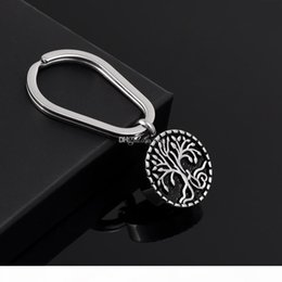 key ring puppy Australia - Tree of Life Animal Pet Puppy Palm Paw Mark Print Urn For Ashes Stainless Steel Cremation Jewelry Key Rings Memorial Jewelry Hot Sale