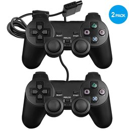 ps2 game consoles UK - Dualshock 2 controller for PS2 Built-in-Double Vibration Motors video game consoles with Sensitive Control for All PS2 Models W1219