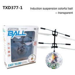 Wholesale Flying copter Ball Aircraft Helicopter Led Flashing Light Up Toys Induction Electric Toy sensor Kids Children Christmas with package
