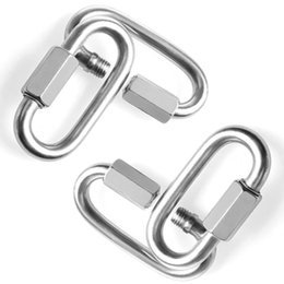 Wholesale 304 stainless steel quick coupling ring connecting ring track buckle rock climbing carabiner chain buckle link buckle M3.5 10 pieces a pack