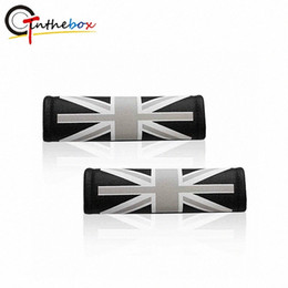 seat belt pads NZ - 2PCS Universal Leather Union Jack UK Flag Pattern Car Safety Comfort Seat Belt Shoulder Pad Covers For Mini Cooper Car Styling mHcZ#