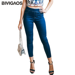 Discount woman leopard jeans BIVIGAOS Basic Skinny Womens Jeans Ankle Pencil Pants Slim Elastic Denim Pants Jean Leggings Female Cotton Jeggings Jeans Women 201014