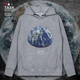 galaxy design clothing 2021 - Original design of Galaxy high definition outer space real earth earth mens hoodies new sweatshirt sporting men autumn clothes
