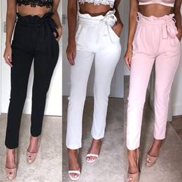 Wholesale working womens clothes resale online - Fashion Womens Pants Slim Fit High Waist Office Lady Pants Women Work Business Pencil Pants Solid Colors Women Clothing