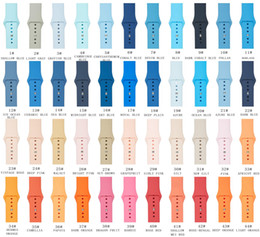 Apple Watch Band Wrist Strap For Adapters Accessories 38mm 40mm 42mm 44mm New 61 Colors Silicone Sport Bands For iWatch series 6 5 4 3 2 1 on Sale