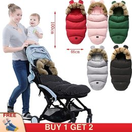 Discount infant sleeping patterns Baby Stroller Sleepsacks Infant wheelchair envelopes Footmuff windshield winter out windproof Fleece Warm Soft Sleeping