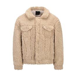 Wholesale korean fashion trench coat resale online - 2021 Winter Faux Fur Coat Lapel Men Khaki Woolen Jacket Coat Korean Style Men Wool Trench