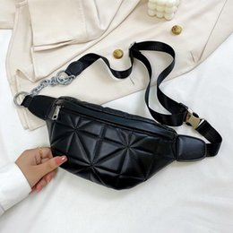 black waist bags for women Australia - Small Solid Color Waist Packs for Women New Fashion Summer Chest Bags Female Casual Phone Purses Chain Ladies' Travel Belt Bags