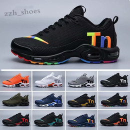 ventilation running shoes Canada - 2019 New Black Rainbow Mercurial Plus Tn Ultra SE KPU White Running Shoes Increased Ventilation Chausseures Designer Shoes PR06