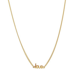 "sterling silver collar choker necklace NZ - 100% 925 Sterling Silver Short Statement Women Necklace Gold Color Letter ""Love"" Choker Charm Necklace Women Collar Colar"