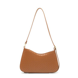 young handbags UK - Street Bag Fashion Women Shoulder Designer Knit Underarm Plain 2020 Handbag Bag Young Lady Baguette Shopping Woven Friends Girls Armpit Phkw