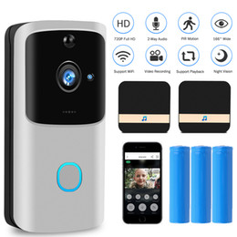 Großhandel WIFI-Türklingel-Video-Türsprechanlage 720P HD drahtloser Smart Home IP-Tür-Klingelkamera-Sicherheitsalarm IR-Nachtsicht