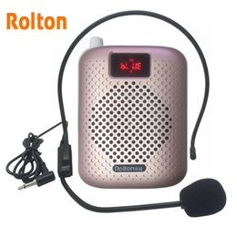 microphone amplifier speaker Australia - Rolton K500 Bluetooth Loudspeaker Microphone Voice Amplifier Booster Megaphone Speaker Supports FM radio TFCard Mp3 Player 201110