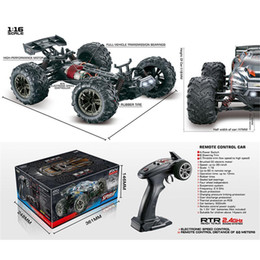 RCtown 1 16 2.4G 4WD 32cm Spirit Rc Car 36km h Bigfoot Off-road Truck RTR Toy 9136 Y200413 on Sale