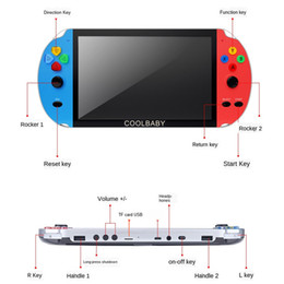 mp5 player video games 2020 - rs-09 Video Game 7inch LCD Double Rocker Portable Handheld Retro Game Console Video MP5 Player for GBA SFC MD Arcade Ret