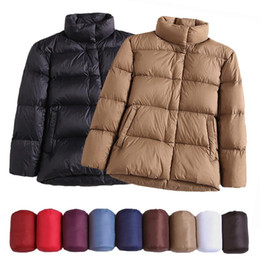 Wholesale womens light down jacket for sale - Group buy Womens Down Jacket Winter Women Puffer Light Slim Warm Coats Female Casual Tops Plus Size Parka