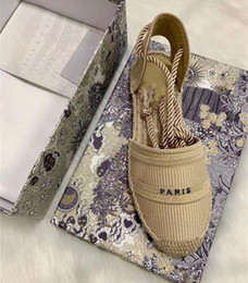 Wholesale sewing weave for sale - Group buy designer platform casual Sandals summer fashion Alphabet fisherman shoes luxury woman shoe Hemp rope grass woven Baotou sandals size