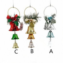 ring bell ornament Australia - Christmas Tree Hanging Ornaments Bowknot Jingle Bell Rings Pendant Christmas Tree And Home Door Hanging Decor 2019 Hot Sale il4Z#