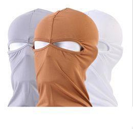 Outdoor Full Face Protection spandex Balaclava Tactical Hood Headwear Ski Neck Cycling Motorcycle Mask summer Riding Hats