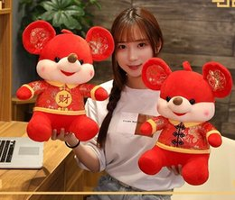 kids mascot suits NZ - Top The new creative Kids toy cheap sale is cute smile Tang suit rat doll gift and mascot of the Year of rat