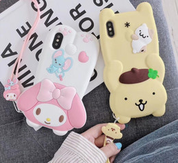 iphone toy case UK - New shell protective cover 3D toy cartoon soft silicone rubber cute for iPhone 11 Por Max Xs Max Xr X 6 6S 7 8 Plus