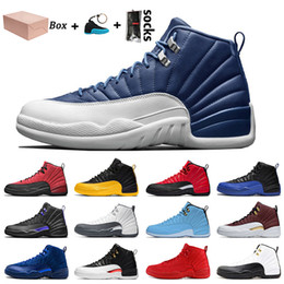 sky cycles 2021 - 2021 With Box Indigo New Jumpman 12 12s Basketball Shoes University Gold Reverse Flu Game Dark Concord Sneakers Mens Trainers