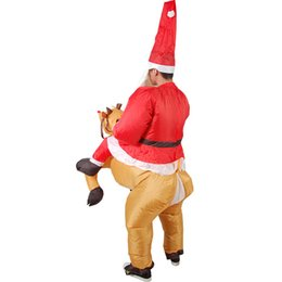 toy moose UK - Christmas toys Moose Riding Costume Santa Claus cosplay costume Christmas decoration hot sell gift of the friend