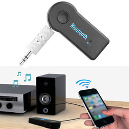 araba akışı toptan satış-Bluetooth Araba Handsfree Kiti mm Streaming Stereo Kablosuz AUX Ses Müzik Alıcı MP3 USB Bluetooth V4 EDR Player