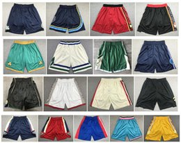 blue yellow basketball shorts Australia - NCAA Top Quality ! 2020 Team Basketball Shorts Men Shorts Sport Shorts College Pants White Black Red blue Yellow