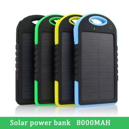 Wholesale Solar power bank Portable 6000mah 8000mah Solar Panel Dual USB Battery Pack Charger Charging Mobile Pover Bank Power bank
