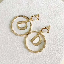 Wholesale D family Dijia Pearl JA letter earrings 2020 new Seiko earring all-match temperament earrings girls' earring